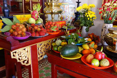 Offerings of fruit to fertility deity Royalty Free Stock Photography