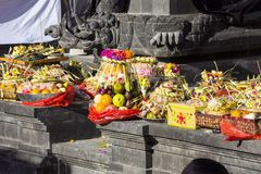 Offerings at Hindu ceremonies, Nusa Penida, Indonesia Stock Photos