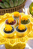 Offerings for joss house , Thailand. Stock Photography