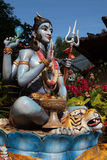 Offerings for Shiva statue Royalty Free Stock Photo