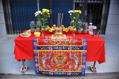 Offerings on a Table Royalty Free Stock Photos