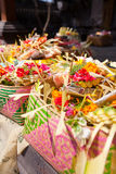 Offerings to gods in Bali Royalty Free Stock Photos