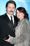 offerman megan mullally hack royaltyfri foto