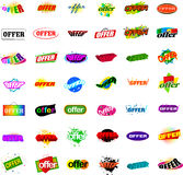 Colorful offer designs Stock Image
