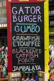 Offers Menu at Market in New Orleans Royalty Free Stock Photos