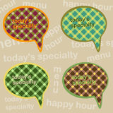 Offers for restaurant. 4 different views daily menu vector illustration