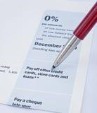 Offerta della carta di credito. Immagini Stock