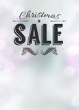 Offerta di Chistmas e fondo dell'annuncio di vendita Fotografia Stock