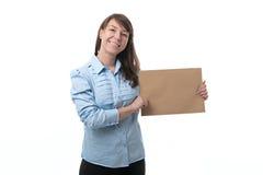 Offerte della donna di affari da comprare Fotografia Stock Libera da Diritti