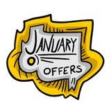 Offerte di gennaio Fotografia Stock