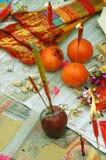 Offerti cinesi di nuovo anno fotografie stock libere da diritti