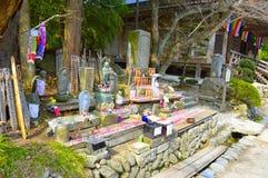 Offerti del santuario di Yamadera fotografia stock libera da diritti