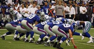 Offesa della difesa NY Giants dei cowboy Fotografia Stock Libera da Diritti