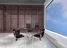 Office. 3d rendering work place office Stock Images