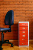 Office #2. In the office. a red background Royalty Free Stock Photo