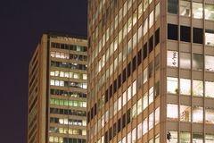Office. Building at night royalty free stock photo