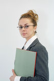 Office. Attractive young business woman posing Stock Images