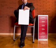 Office #5. In the office. a red background Royalty Free Stock Image