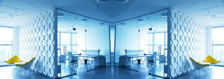 Office. Business theme- modern office interior Stock Photography