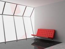 Office. Sofa un the modern ofiice 3D Stock Image