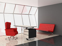Office. Modern interior of the ofiice 3D Royalty Free Stock Photo