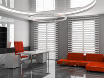 Office. Modern interior of the ofiice 3D Stock Image