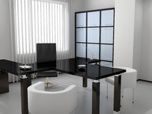 Office. Modern interior of the ofiice 3D Stock Images