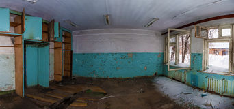 The office in the abandoned factory. The office in a workshop of the abandoned factory Royalty Free Stock Photography