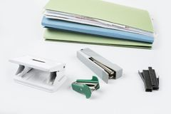 Office accesseries for everyday use in clerk job school and household. Office accesseries for everyday use in the clerk job school and household Stock Image