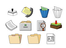 Office accessories in symbols royalty free illustration