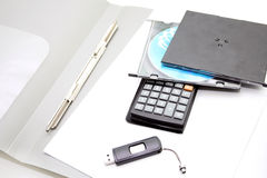 Office accessories  on a white background Royalty Free Stock Photo