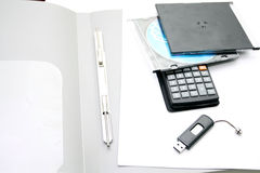Office accessories  on a white background Stock Photos