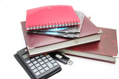 Office accessories  on a white background Royalty Free Stock Photography