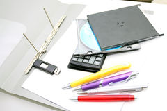 Office accessories  on a white background Stock Photo