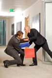 Office accident Royalty Free Stock Photography