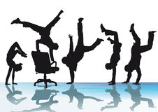 Office acrobatics Royalty Free Stock Photo