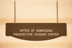 Office of admissions Royalty Free Stock Photo