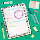 OFFICE AGENDA WITH HAPPY MOTHER DAY Stock Image