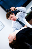 Office aggression Royalty Free Stock Photography