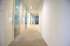 Office aisle Royalty Free Stock Photography