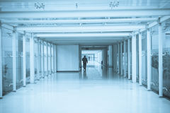 Office aisle Royalty Free Stock Images