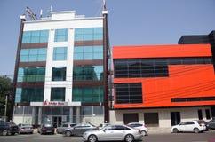 KRASNODAR, RUSSIA - AUGUST 23, 2016: The office of `Alfa-Bank` in Krasnodar. Russian Federation. The office of `Alfa-Bank` in Krasnodar. Russian Federation Stock Photos