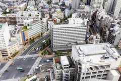 Office , apartment , condominium and house in Tokyo city Japan , road with vehicle. Office , apartment , condominium and house in Tokyo city Japan , Japanese stock photo