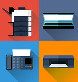 Office appliance flat design Stock Images