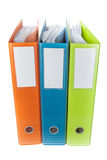 Office archive folders and documents. White background. Stock Photos