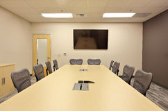 Office area. Indoor modern office interior in america Stock Photography