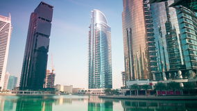 Office area 4k time lapse from dubai city Royalty Free Stock Photography