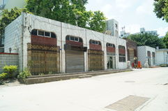 Office area of previous Nantou checkpoints Royalty Free Stock Photo