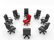 Office armchair set two Royalty Free Stock Images