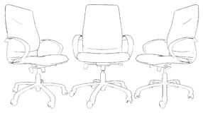 Office Armchair Vector 02 Royalty Free Stock Photo